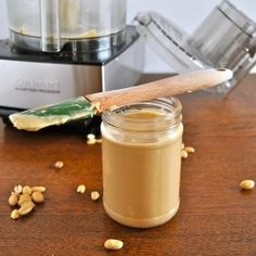 Homemade Peanut Butter- Pull out your food processor and make some amazing smooth nut butter!