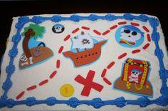 Pirate cake toppers / Treasure Map Birthday Cake by CrumbyArt
