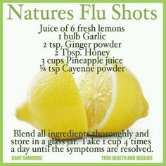 Nature's flu shot - wonder if this works?