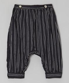 Black Italian Linen Harem Pant