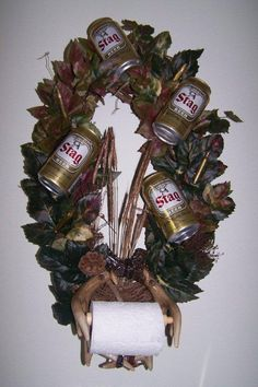 antler, wreath idea, toilet paper