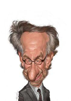 Steven Spielberg caricature by amir taqi