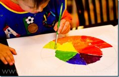 Check out this wonderful blog to see more pictures of kids creating art from the Home Art Studio DVDs!  1+1+1=1