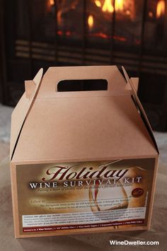 Exclusive Wine Dweller Holiday Wine Survival Kit...Putting a layer of civility over the holiday's for over 8,000 years.