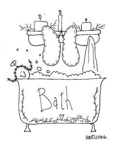 bath - stitchery
