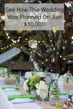 See how this amazing wedding was planned for only $10,000