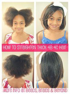 How to straighten thick 4b/c hair