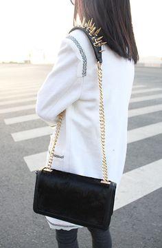 Long rivets!!! #Romwe #Fashion #Contest #Pinterest #Girl #Streetfashion #beauty