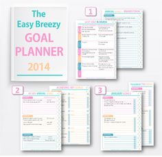 FREE Downloadable Goal Planner