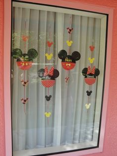 WDW hotel window idea - These would be really easy to reproduce at home for a child's room -- or special birthday party!