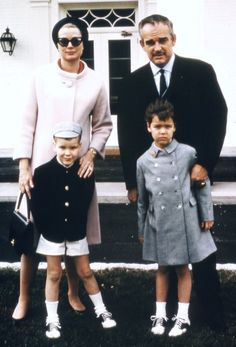 With Prince Rainier and Caroline and Albert at the Greenbrier