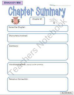 Free charlottes web worksheets grade 3 4