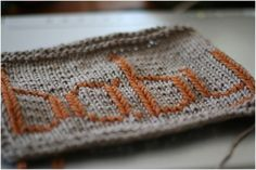 How to add names and words to knitting with duplicate stitch tutorial.