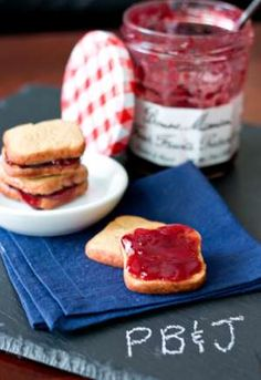 The Peanut Butter and Jelly Cookie Sandwich Makes a Favorite a Pastry #desserts #peanutbutter trendhunter.com