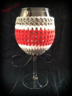 Ohio State Colored Crochet Wine Glass Coozie by KroegerCrochet, $5.00