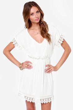 O'Neill Sea Breeze Ivory Lace Dress at LuLus.com!