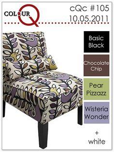 black, chocolate chip, pear pizzazz, wisteria wonder