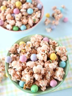We're a little afraid that if we started eating this popcorn—topped with Easter pretzel M&Ms—we wouldn't stop until the bowl was empty. (via Two Peas and Their Pod)
