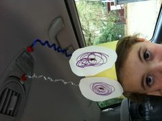 I dropped off my daughter and picked up a bug...from school....fun craft while learning about bugs!