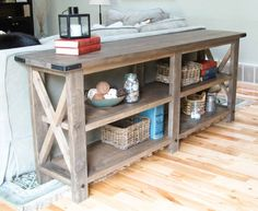 Rustic X Console plans by Ana White