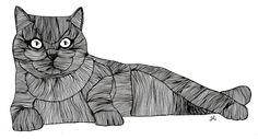 Cat lines by sofia sousa, via Behance
