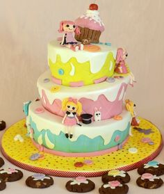 Lalaloopsy cake cupcak, cake idea, button, child birthday, cooki, lalaloopsy party, lalaloopsi cake, parti, birthday cakes