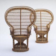 City Furniture | 2 Rattan Peacock Chair 1970s #wicker #old #peacockchairs