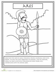 Greek Gods: ARES Sheet