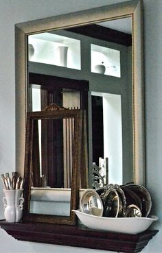 Not too shabby for a free mirror.  Love it when I find a good thing free (from The Gilded JunqueYard)
