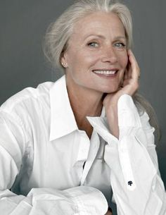 Pia Gronning white hair, fashion glamour, aging gracefully, pia gron, baby boomers, age, beauti, supermodel, actresses