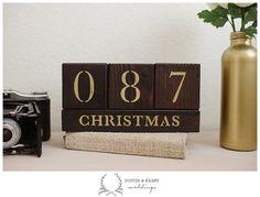 Christmas Countdown Blocks  > Days till Christmas  x-mas by kearydee on etsy