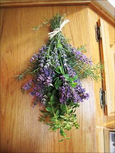 lavender, rosemary, and oregano dried swag