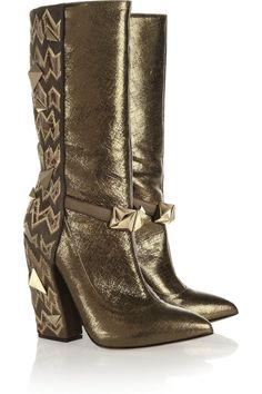 Studded textured-leather boots by Missoni #NaturalBeauty #NaturalzBiz #NeoNaturalz #LadyBizness