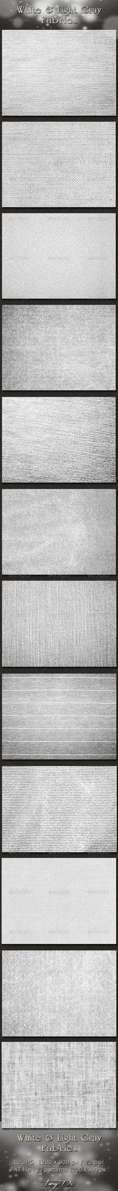 White and Light Gray Fabrics - $4