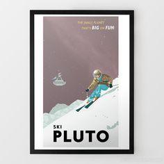 Ski Pluto Travel Print