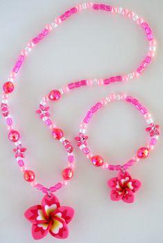 Pink Plumeria Necklace-950. $9.00, via Etsy.
