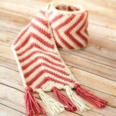 Chevron ripple scarf