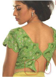 Saree blouse design   design that doesnt function :(     saree blouse design