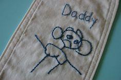 Father's Day crafts for kids have longevity when they're stitched. Have a child draw a picture for daddy and then embroider it.