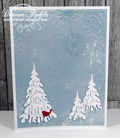 A Path of Paper: Fast, Quick, Fairly Clean and Simple Christmas Cards