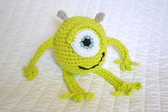mike wazowski, craft, patterns, crochet hook, thing bright, monsters, crochet pattern, crochet mike, amigurumi
