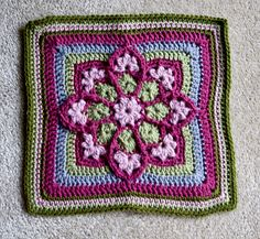 same pattern another color....Ravelry: JulieAnny's Stained Glass Afghan Square pattern by Julie Yeager