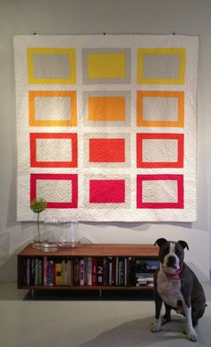 "Fun ""Summer day in Marfa"" quilt by Danette Riddle."