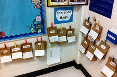 Inference Bags - write clues to go along with the bag. See if the kids can guess what's inside. Extend in reading notebook explaining their thinking.