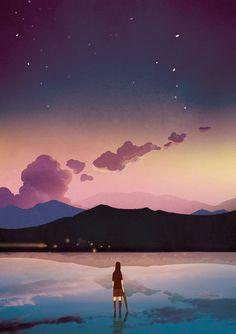 「Towards evening light ...」By Dingyiyi (☄)