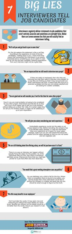 What are the 7 Big Lies That Interviewers Tell #Job Candidates? #Infographic #careers