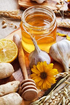 Ayurvedic remedy: turmeric honey.  The turmeric is an antiseptic tridoshic herb. 1/2 c. raw honey (paste)  1/3 c. turmeric powderoptional: 1tsp. black pepper or ginger powder. Dump your ingredients on a cutting board. Use a dull knife or metal spatula to combine the ingredients into a paste. Store in a small jar. Put on the kitchen table, and have a teaspoon after meals.