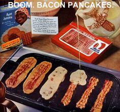 cook, idea, life hack, breakfast, food, bacon pancak, pancakes, yummi, recip