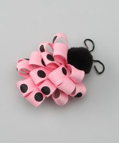 Another great find on #zulily! Pink Ladybug Loop Clip by Picture Perfect Hair Bows #zulilyfinds