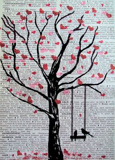 great gift idea book page art @Chris Cote Cote Cote Cote Wells Terwilliger do u think I could do this for our next mixed media art thing?